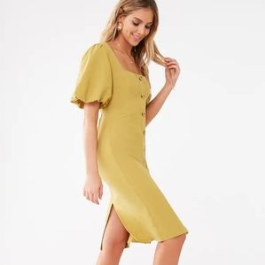Forever 21 Front Button Knee length dress